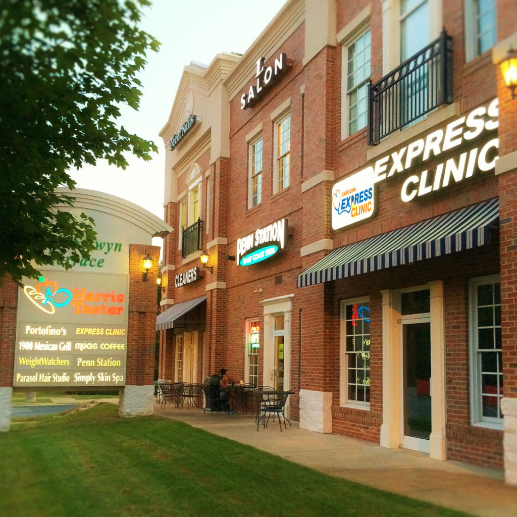 Carolina Express Walk In Clinic Located in S. Charlotte Off Park Rd & Selwyn Ave by Montford